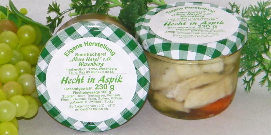 """Räucherprodukte und Marinaden - Seenfischerei """"Obere Havel"""""""
