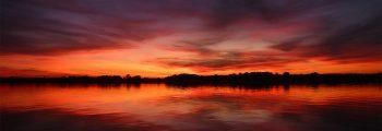 Sonnenuntergang beim Fischer in Canow