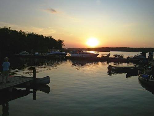 Sonnenuntergang in Canow